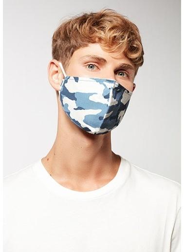 Mavi Unisex  Baskılı Maske 092407-18790 İndigo